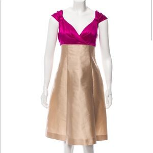 MOSCHINO FLARED SILK DRESS